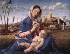 Giovanni Bellini - Madonna and Child (Blue Hills)