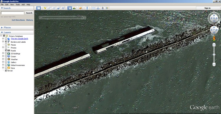 How to Use Google Earth to find Inshore Structure 7