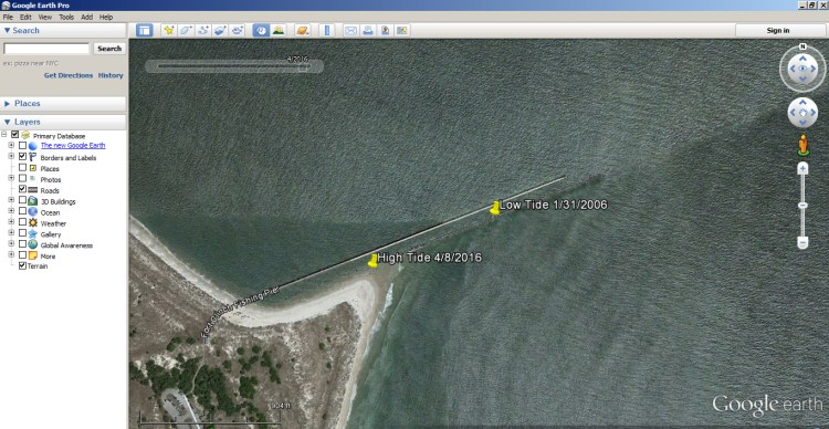 How to Use Google Earth to find Inshore Structure 5
