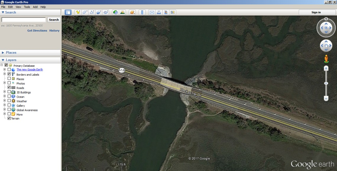 Using Google Earth to find access points