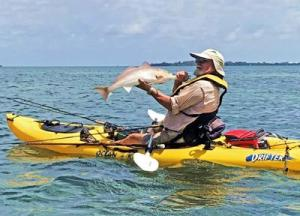 Redfish from a kayak