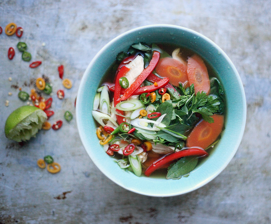 Spicy Thai Chicken Broth