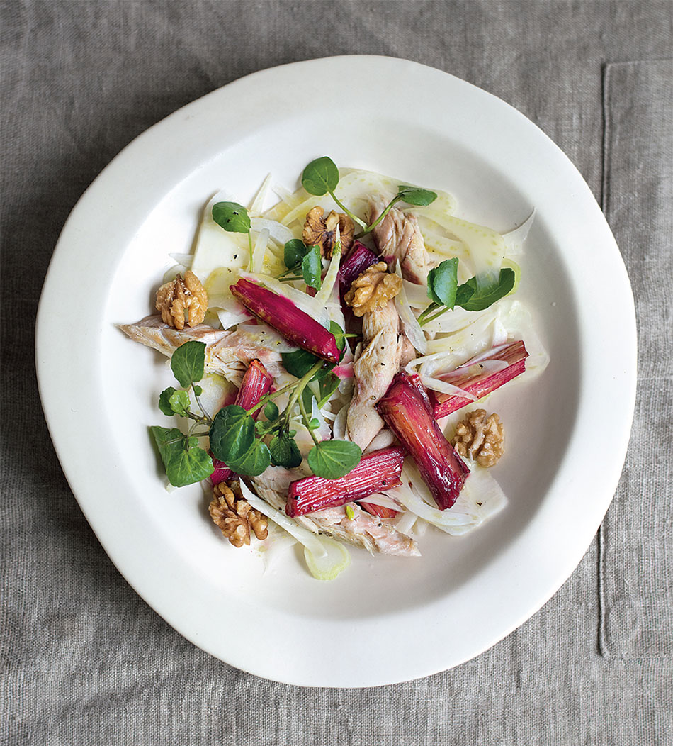 Rhubarb & Mackerel Salad