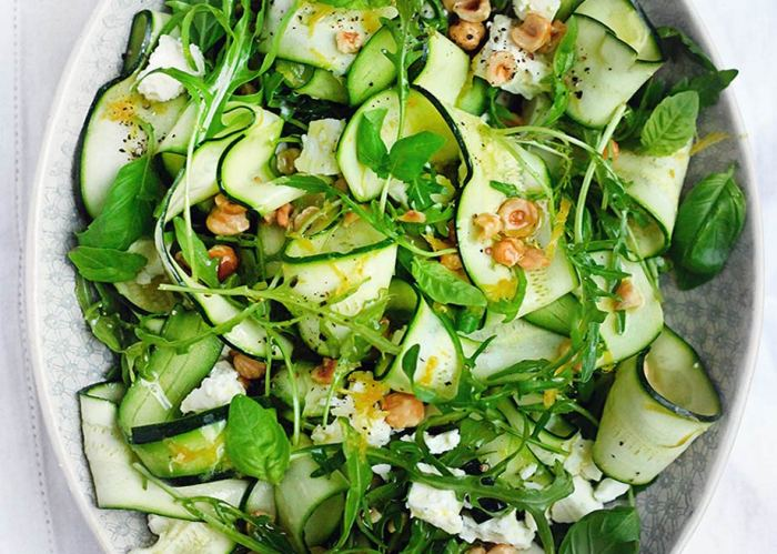 Zucchini, Feta, Hazelnut Salad by Amelia Freer