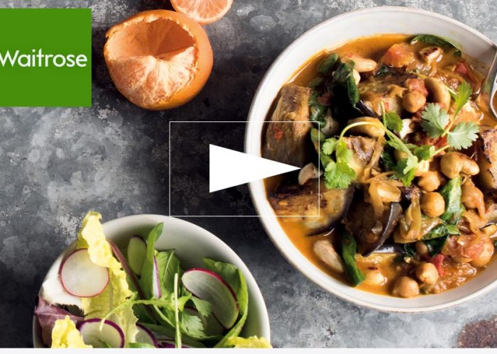 Waitrose Tv: Aubergine & Chickpea Curry