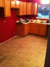 Kitchen is now red
