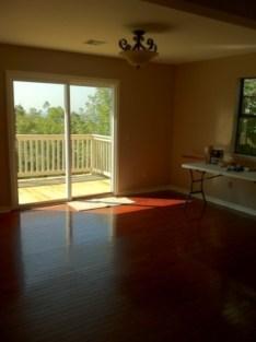 Living room with new sliding door
