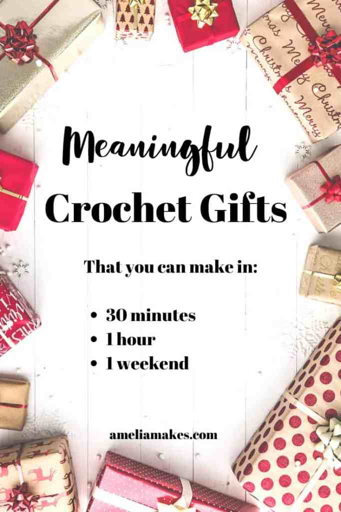 Fast Crochet Christmas Gifts That Are Still Meaningful Amelia Makes