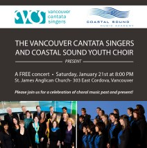 Web image promoting 2012 collaboration between Vancouver Cantata Singers and Vancouver Coastal Sound Youth Choir.