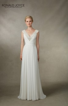 Jamesina - A GRECIAN STYLE DRESS WITH RUCHED CHIFFON, EXQUISITE BEADED NECKLINE AND ILLUSION BACK
