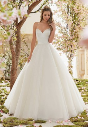 Style 6831 - Beautiful Duchess Satin and Tulle Ball Gown Wedding Dress
