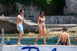 "EXCLUSIVE: Jamie Dornan and wife Amelia Warner enjoy day off Jamie Dornan spends a day off from filming Fifty Shades Freed to become a family man again, relaxing with wife Amelia Warner at the famous beach restaurant ""La Paloma"" in France"