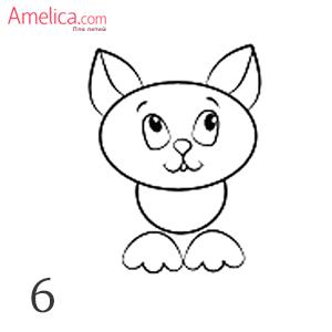 hvordan man tegner en kat med en blyant