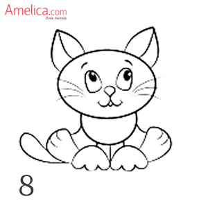 how to draw a cat with a pencil
