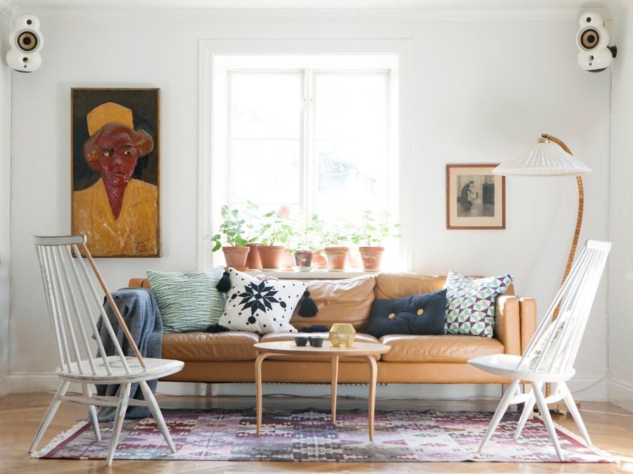 Vardagsrum, livingroom, nordic design, designklassiker, börge mogensen, Tapiovaara, mademoiselle, Amelies hus, Fotograf Amelie von Essen