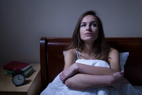 femme en pleine insomnie
