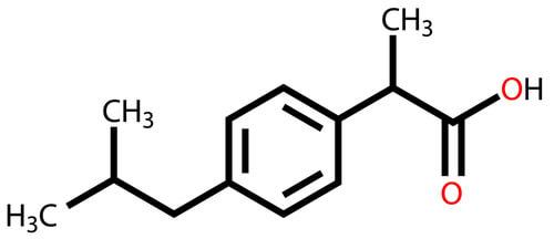structure ibuprofène