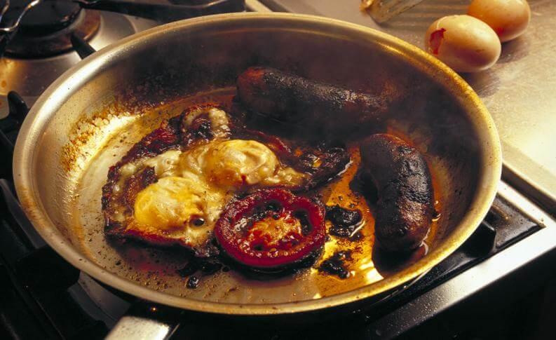 burnt kitchen pan