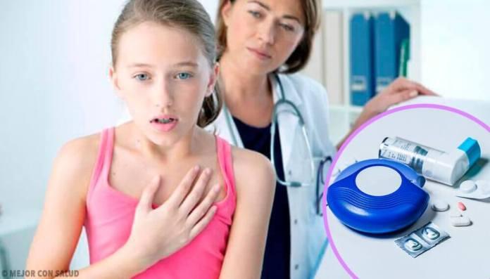 jeune fille souffrant d'asthme