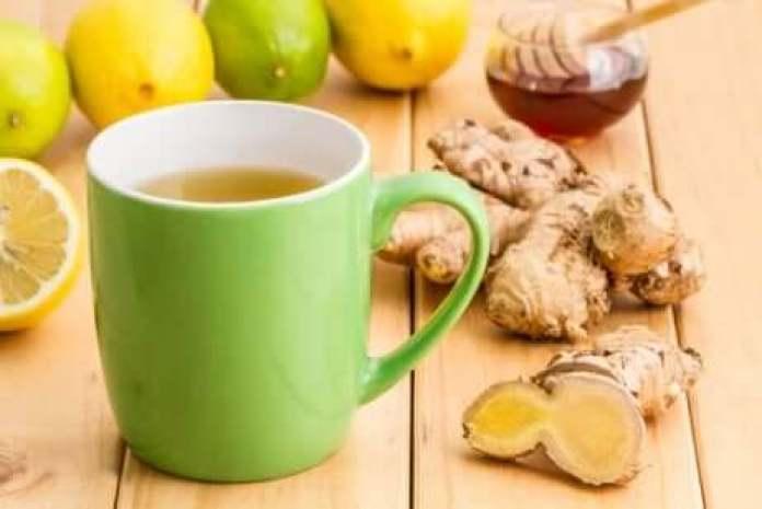 Infusion de gingembre, miel et citron.