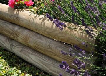 Bordure Jardin Bois Haute   Construire Facilement Une Bordure De ...