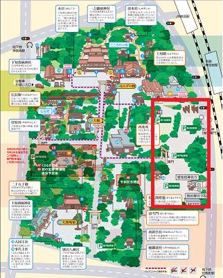 熱田神宮東門駐車場のマップ