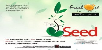 Fresh Oil Seminar With Tosin Affinnih, February 2016 Edition, The Seed.