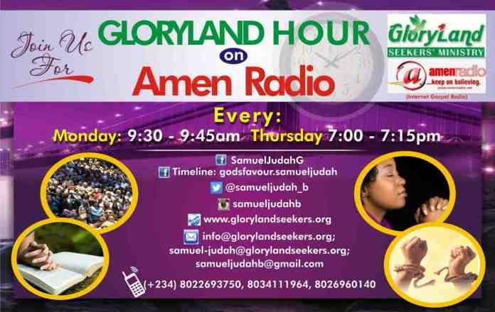 Gloryland Hour Radio Show with Samuel-Judah God'sfavour B.