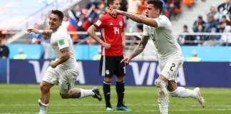 Jose Gimenez scores for Uruguay [www.amenradio.net]