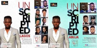 Event: Thobbie To Host Unscripted Concert In Lagos and Abuja | AmenRadio.net