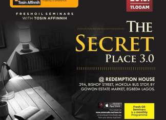 Fresh Oil Seminar: The Secret Place 3 By Tosin Affinnih