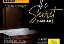 Podcast: The Secret Place Part 4 With Tosin Affinnih [Fresh Oil Seminar]