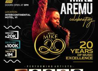Mike Aremu Celebrates 20 Years of Musical Excellence With A Concert