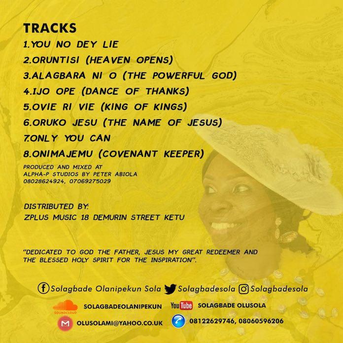 Orun Ti Si Album Tracklist - Sola Solagbade