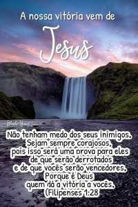 Mensagem Evangélica Para Whatsapp - Jesus é a garantia da nossa vitória.