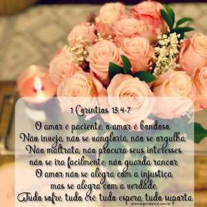Versiculos Sobre Amor - 1 Coríntios 13: 4-7