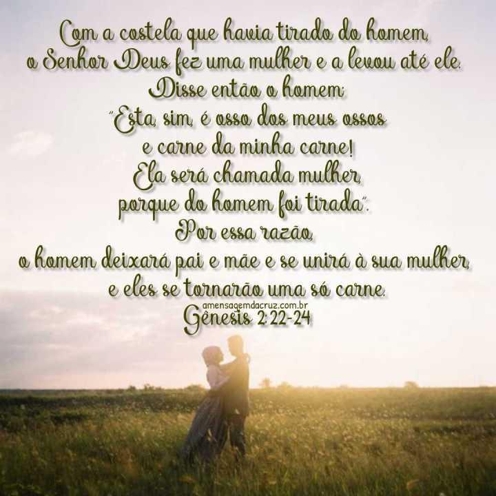 Uma Só Carne Gênesis-2:22-24 - Versiculos Sobre Amor
