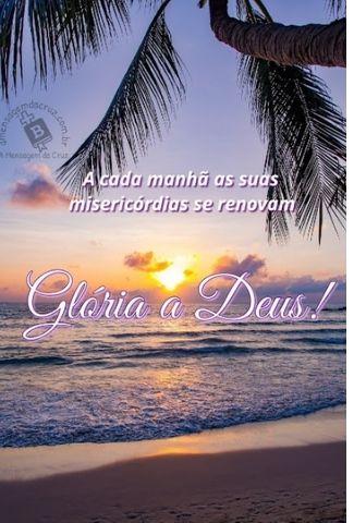 bom dia para a gloria de Deus