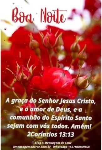 Comunhão do Espírito Santo - Mensagem de Boa Noite