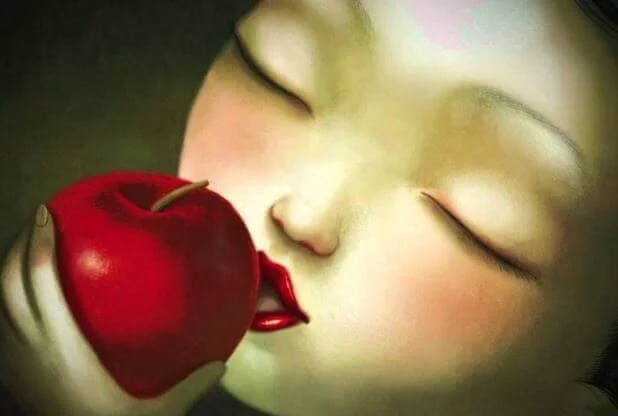 menina-maçã