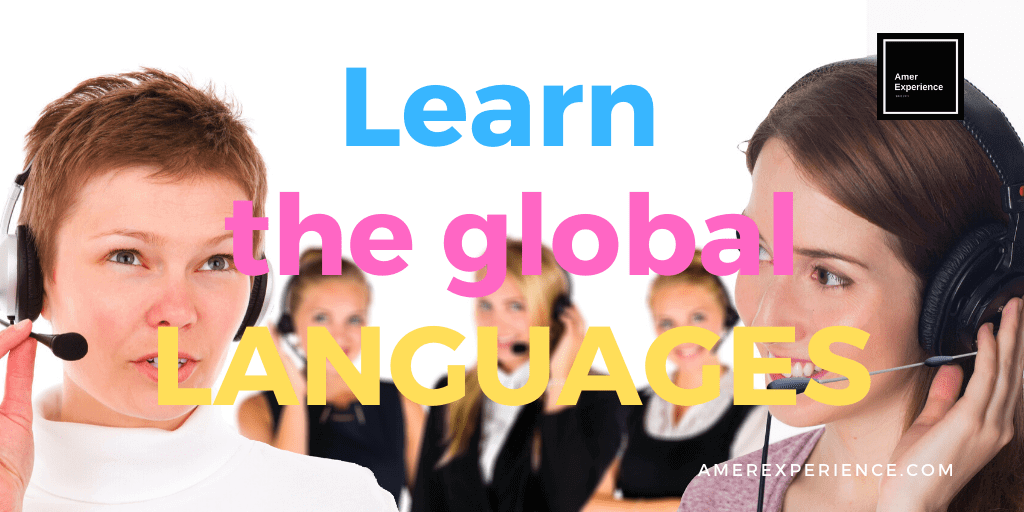 Learn the global languages Spanish, English and German