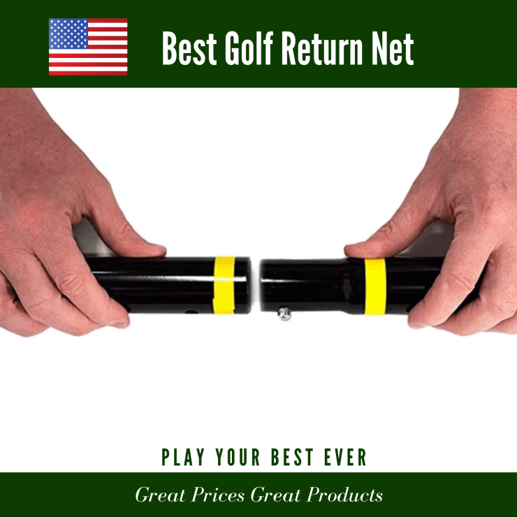 Golf hitting net tube connections * 5 Min. Pushbutton Assembly - Using Our Quick Color Connect System