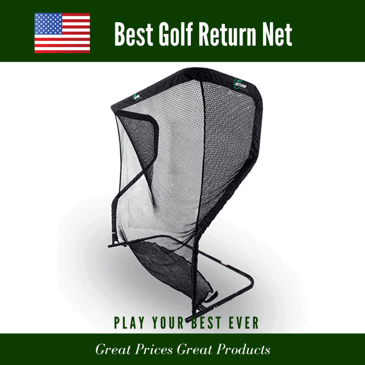 Golf training net cage with automatic ball return