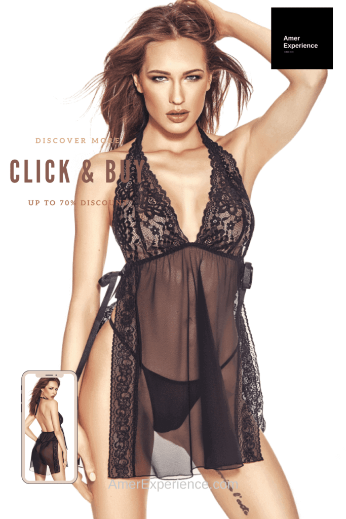 Lavinia Sexy Lingerie Design Lencería Babydoll Black Transparente Very Hot