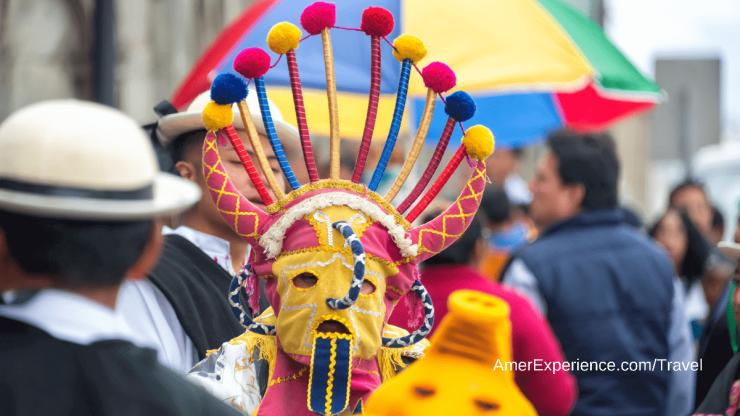 Costumes street festival Quito Ecuador