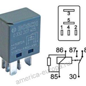 Реле 24в 5 контактов Bosch