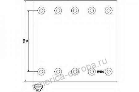 Накладки тормозные BPW SAF 420×200