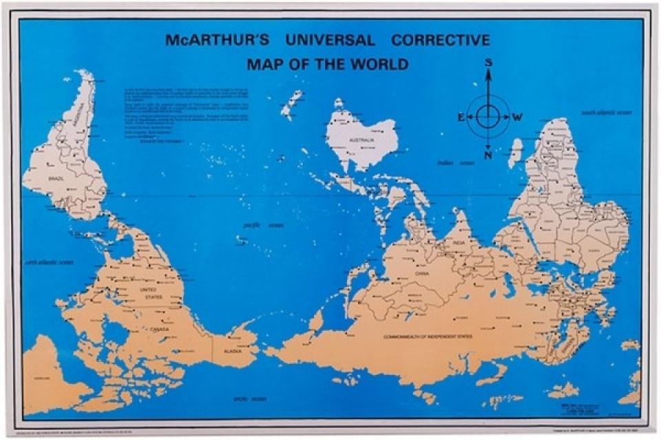 And Map World Australia America