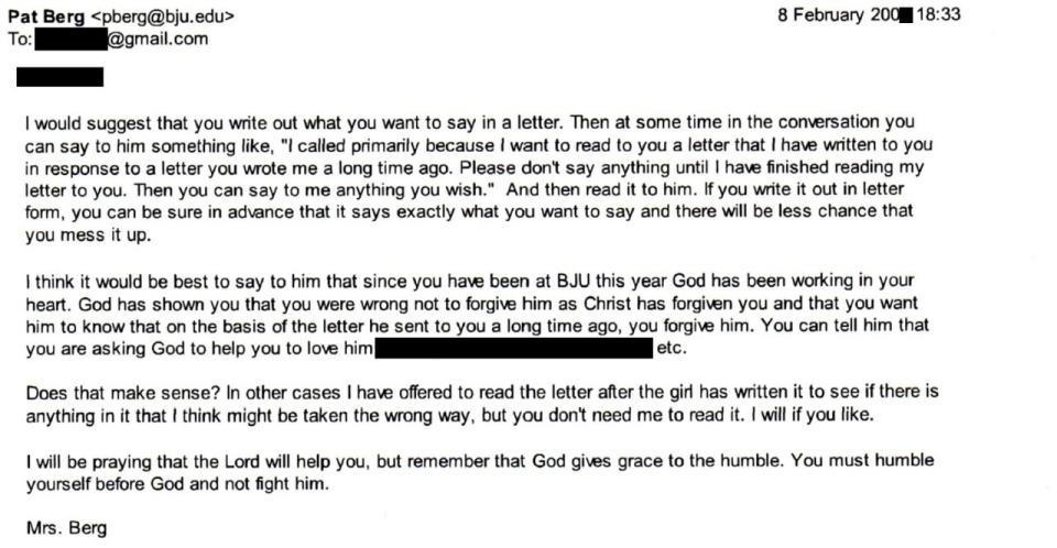Pat Berg email