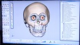 a face being reconstructed in 3-D space